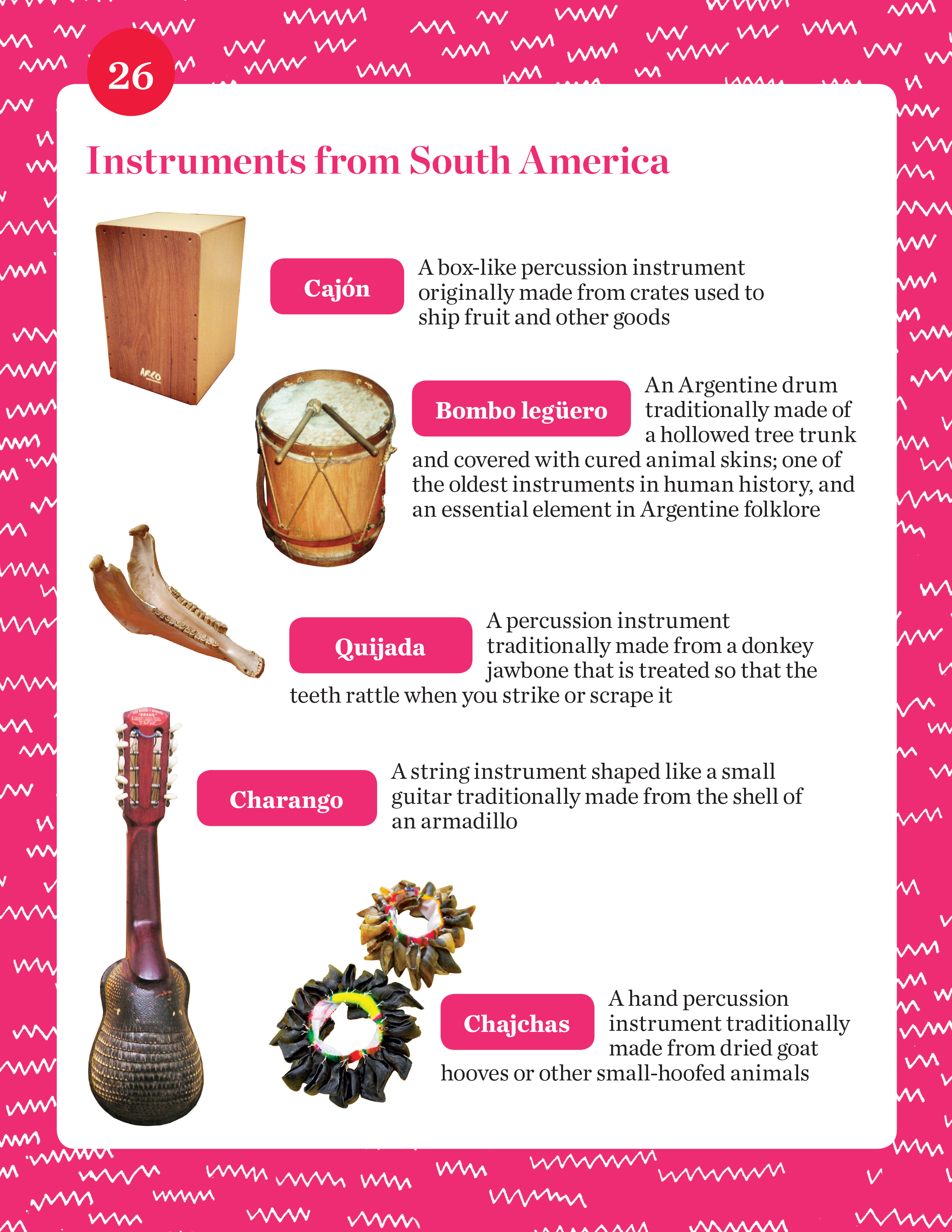 Instruments from South America